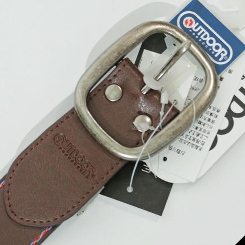 Tribal Pattern Embossed Belt - Brown