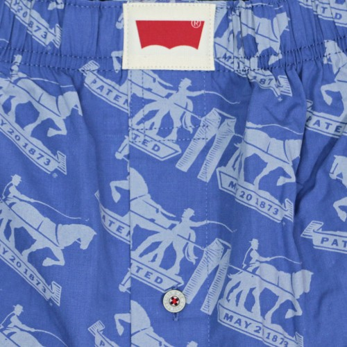 Horse Pattern Boxer Set - Blue/Black