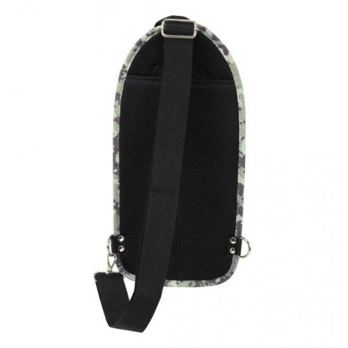 Carbon Lip Multi Pocket Vertical One Shoulder Bag - Digicamo