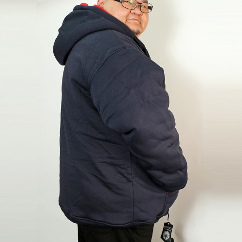 Thermal Lined Heavy Duty Fleece Hoodie - Navy
