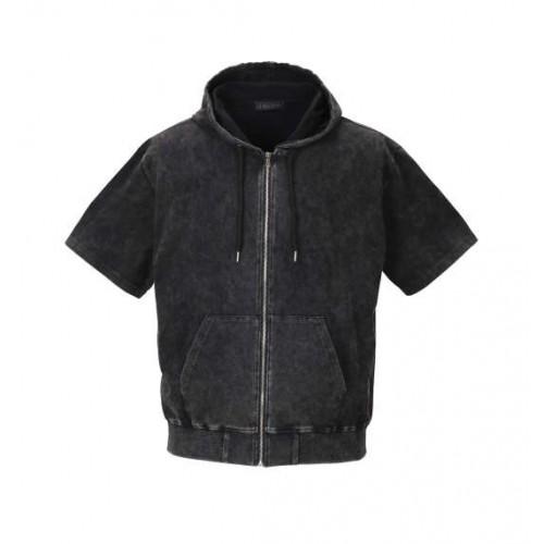 Powder Processing Short Sleeve Full Zip Parka - Black