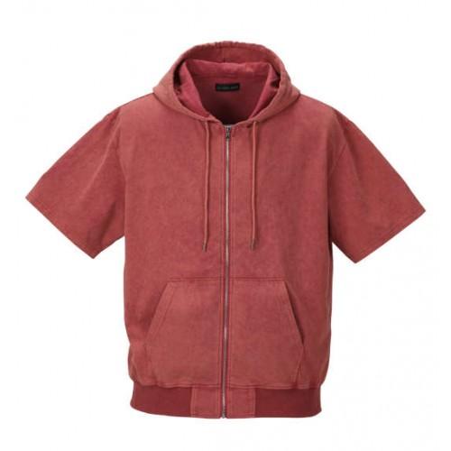 Powder Processing Short Sleeve Full Zip Parka - Red