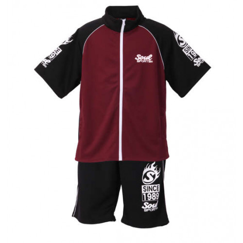 Since 1989 Soul Sports Jersey Set - Black/Wine
