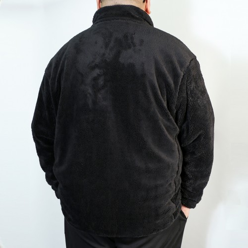 Back Mesh Boa Fleece Jacket - Black