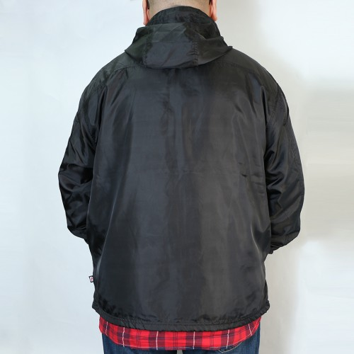 Breathable Back Mesh Windbreaker - Black