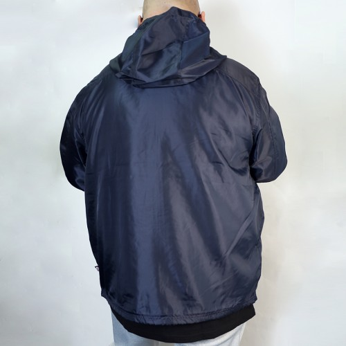 Breathable Back Mesh Windbreaker - Navy