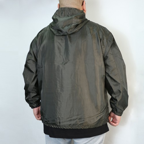 Breathable Back Mesh Windbreaker - Olive