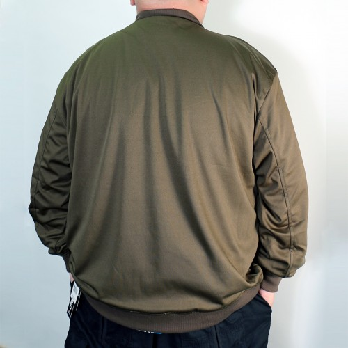 Smooth Lining Photo Print MA-1 Jacket - Olive