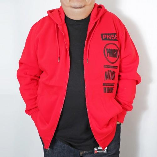 Classic Full Zip Hoodie - Red