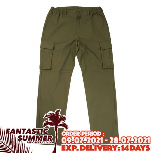 Stretch Cargo Pants - Khaki