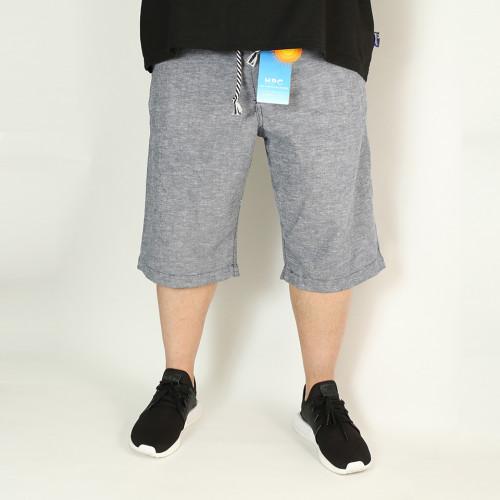 麻混 Easy Relax Shorts - Blue
