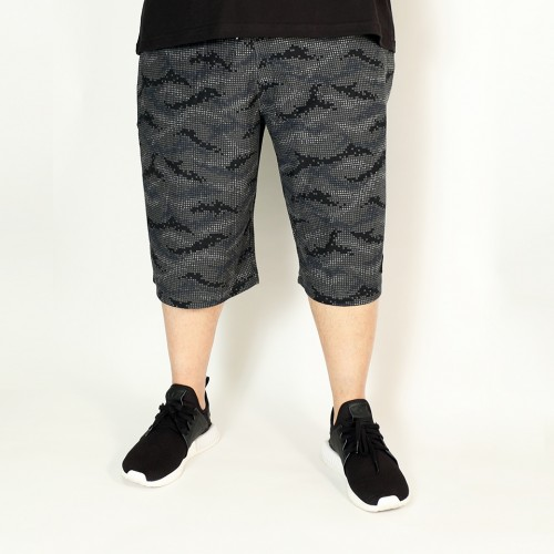 Geometric Pattern Shorts - Black