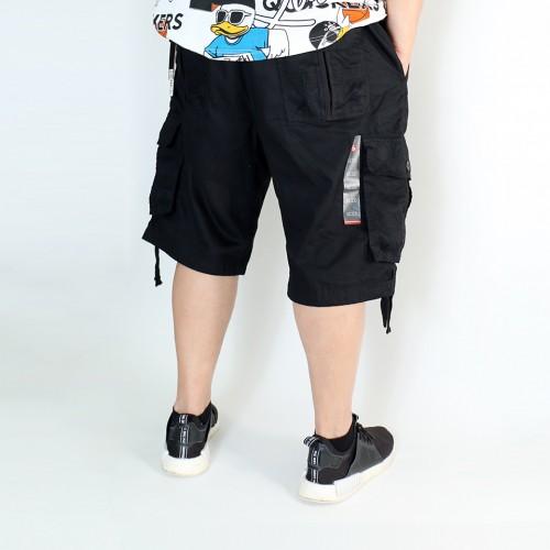 Simple Cargo Shorts - Black