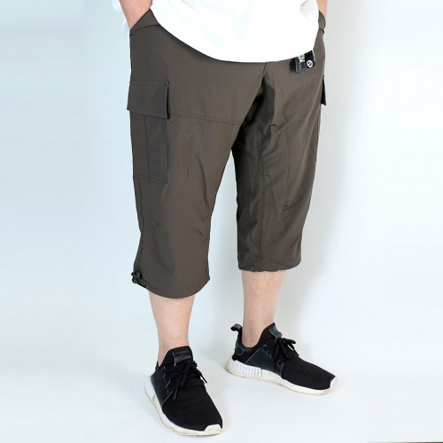 Stretch Cropped Cargo Shorts - Sage Green