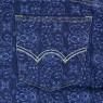 Paisley Pattern Jerseys Shorts - Blue