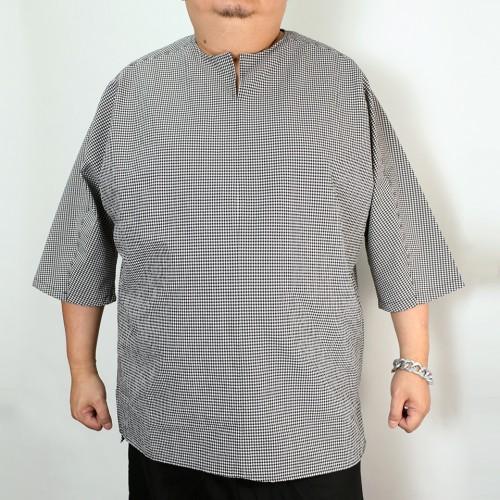 Seeksucker Hippie Shirt - Black Plaid