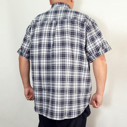 Hipster Check Shirt - Navy