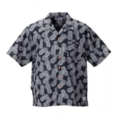 Pineapple Pattern Ripple Shirt - Black