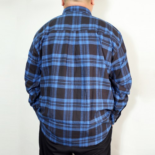 Basic Casual Check Shirt - Blue/Black