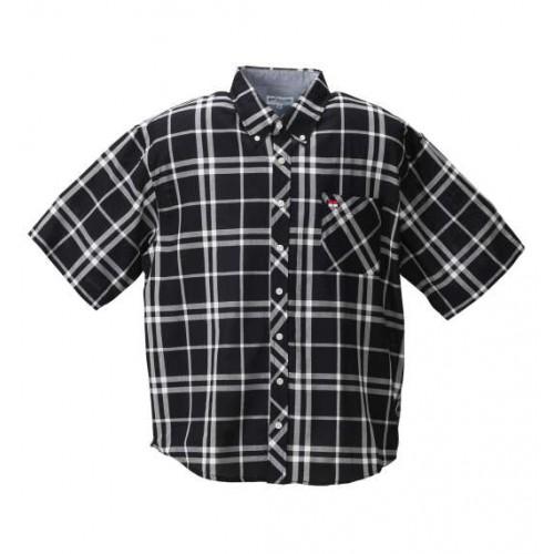 Panama Check BD Short Sleeve Shirt - Black