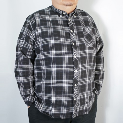 Tarten Check Pattern B.D. Shirt - Black
