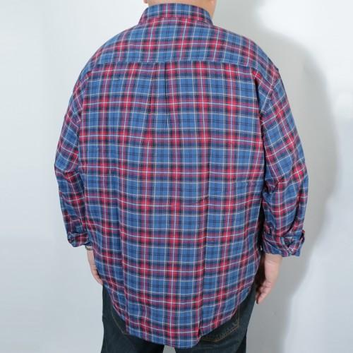 Tarten Check Pattern B.D. Shirt - Navy/Red