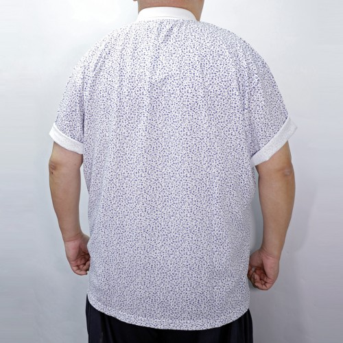 Flower Pattern Polo Shirt - White