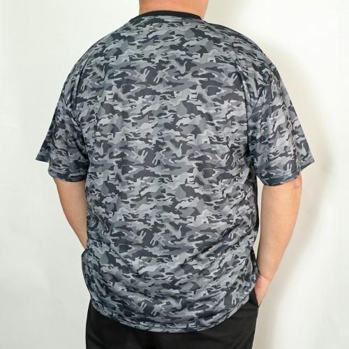 Dry Mesh Camouflage Tee - Black