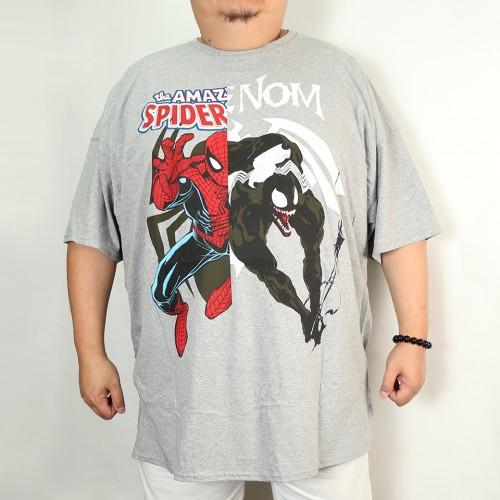 Spider Man And Venom Tee - Grey