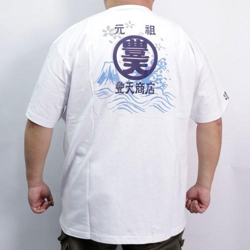 Fujisan & Wave Tee - White