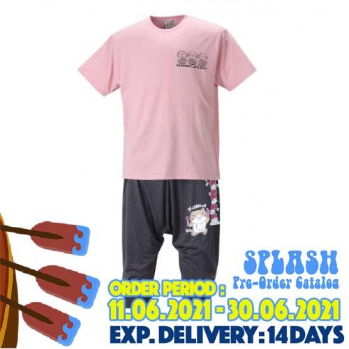 Tenjiku Tee & Sarouel Pants Suit - Pink